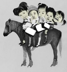 MY SISTERS TOOK ME FOR A RIDE, Helena Frank, illustration, kids, cute