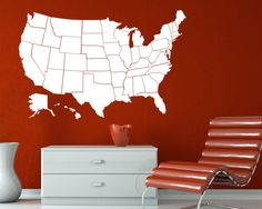 US United States Map Wall Decal Vinyl Sticker Graphic Maybe Not - Us map wall decal