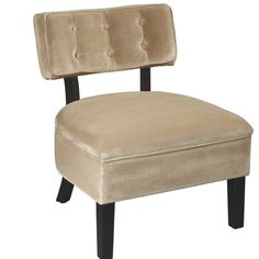 Office Star Products Curves Charcoal Velvet Accent Chair