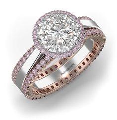 pink diamond engagement rings flower of light