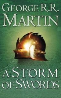 "I just finished book three of ""A Song of Ice and Fire"" called ""A Storm of Swords"".  This is the series that Game of Thrones on HBO is based on. IT ENDED SOOOOO GOOD!!!!"