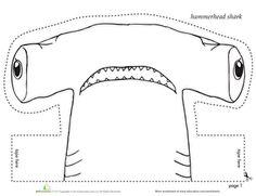 Use this worksheet to make a hammerhead shark headband to wear!