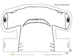 Use this worksheet to make a hammerhead shark headband to wear!