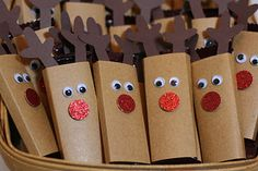 Tiny Reindeer - wrap mini candy bars