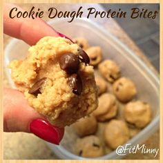 Cookie Dough Protein Bites! Got to try this with my VISALUS mix.