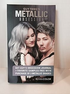 GUY TANG METALLIC OBSESSION KIT - INCLUDES JOURNAL, METALLIC SWATCH & 2-KENRA LIGHTENER SACHETS  //Price: $ & FREE Shipping //     #hair #curles #style #haircare #shampoo #makeup #elixir