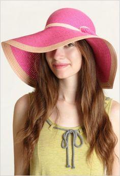 Pretty in pink sun hat (Summer 2012)