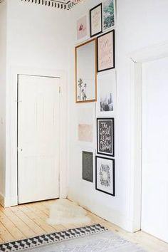 Hallway Wall Decor Ideas For The Wall Between Two Doors