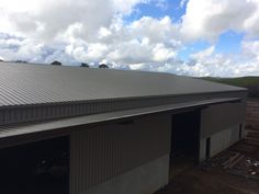 Ultraspan custom building. View of the roof, awning & side wall. Built by Kieren Lee Plumbing & Construction 0428690696