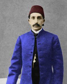 السلطان العثماني عبد الحميد الثاني في شبابه. (Sultan Abdul Hamid II (1842 - 1918