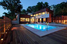 contemporary homes, kansas city | 15 backyard waterfalls fountains Kansas City Home Design Photos