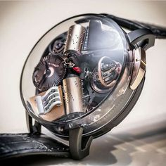 The Opera features a Triple-Axis Tourbillon and a melody activated by the two o'clock pusher. A true mechanical marvel ? Amazing Watches, Beautiful Watches, Cool Watches, Watches For Men, Unique Watches, Patek Philippe, Dream Watches, Luxury Watches, Rolex