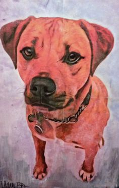 Handmade Greeting Card  Painting of Pax by LaurenIllustrations, $4.00