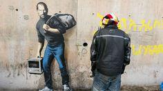 Steve Jobs dans la Jungle de Calais par Bansky
