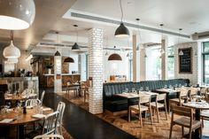 Restaurant, Bar, Brasserie And Private Dining @ Tom's Kitchen Restaurant Concept, Cafe Restaurant, Restaurant Design, Restaurant Interiors, Kitchen Bar Design, Kitchen Ideas, Toms, Inspiration, Dining