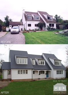 Consider this essential picture in order to take a look at the here and now critical information on Floor Remodel Miller House, Roof Design, Exterior Design, House Design, Style At Home, Bungalow Renovation, Bungalow Homes, Exterior Cladding, Exterior Makeover