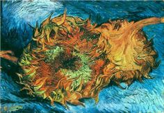 #Still Life with Two Sunflowers  Vincent van Gogh  1887  Metropolitan Museum of Art, New York, USA