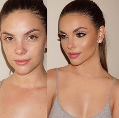 She looks better without make up. Just saying.