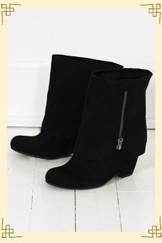 Black fold-over boots Fold Over Boots, Pairs, Comfy, Purses, Clothes For Women, My Style, How To Wear, Budget, Gifts