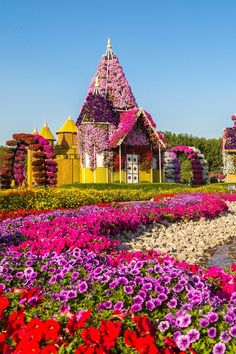 65 Most Colorful Places on Earth Dubai Miracle Garden, Dubai Most Beautiful Gardens, Beautiful Flowers Garden, Amazing Gardens, Beautiful World, Beautiful Places, Beautiful Nature Wallpaper, Beautiful Landscapes, Dubai Miracle Garden, Landscape Photography