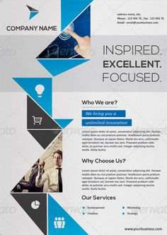 Creative Corporate Flyer Template - http://www.ffflyer.com/creative-corporate-flyer-template/ Creative Corporate Flyer Template - Professional, clean and modern Business Ad Flyer. A corprate flyer template. This layout is suitable for any project purpose. Very easy to use and customise.   #Business, #Corporate, #Marketing, #Social