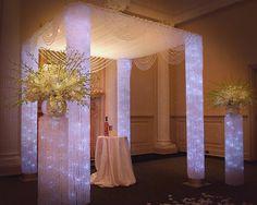 crystal wedding tent