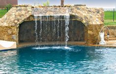 Grotto Built By Blue Haven Pools Charlotte Swimming Pool Photos