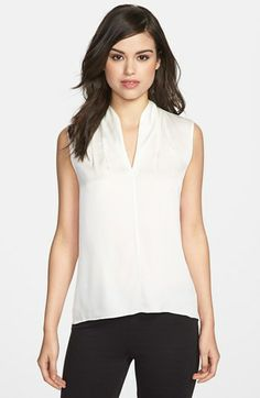 Elie Tahari 'Judith' Stretch Silk Shell available at #Nordstrom
