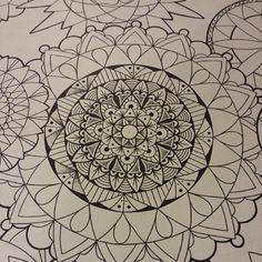 mandala pen and ink