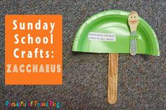 Zacchaeus Sunday School Craft from pocketfullofposies. #Bible lesson, Bible story craft