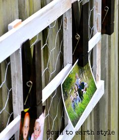 Down to Earth Style: Wood Trellis Clip Board w/ Wire Accent Wood Trellis, Chicken Wire, Craft Tutorials, Wine Rack, Repurposed, Decorating Ideas, Gardening, Earth, Wall Art