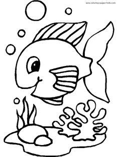 Balık Boyama Sayfası Faaliyet Pinterest Coloring Pages Animal