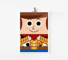 Toy Story Woody and Buzz Lightyear 5x7 art prints set by loopzart