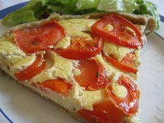 Tarte de tofu e tomate
