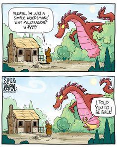 Check our vegan clothing line & Help spread veganism . Dragon Comic, Funny Dragon, Dragon Memes, Dnd Funny, Funny Cute, Really Funny, Cute Comics, Funny Comics, Slack Wyrm