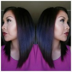 A Line Long Bob haircut