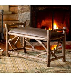 Reclaimed Wood And Leather Hope Bench