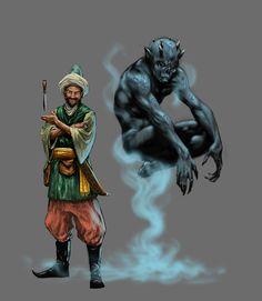 """""""The Thief and the Djinn"""" or Jinn or Genie"""