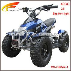 Hot-sale CE proved 49CC electric starter 6 inch tyres big front light Gasoline ATV for Kids, CS-G9047-1 website: www.harryscooter.com email: sales2@harryscooter.com Skype: Sara-changshun