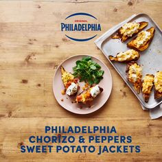 This hearty dish with chorizo and Philadelphia Chives reinvents loaded potato skins with the nuttiness of sweet potato. A simple recipe which will please the hungriest of friends!