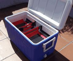 2 Small Cooler Shelves in 52 qt ice chest