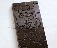 Typographic chocolate bars as holiday gifts to clients by Montréal-based Dynamo. Custom Chocolate, Chocolate Brands, Love Chocolate, Making Chocolate, Artisan Chocolate, Chocolate Treats, Chocolate Lovers, Chocolates, Typography Letters
