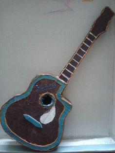 Card board guitar From meet