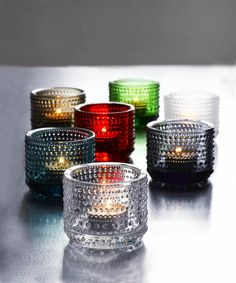 Kastehelmi tealight holders by Iittala