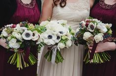 Image result for winter flower wedding bouquets