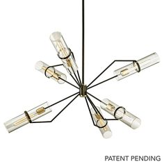 F6328 - Troy Lighting F6328 Raef 6Lt Chandelier in Textured Black And Polished Nickel - GoingLighting Designer Ben Marshall