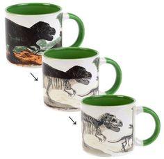Noooo!: Heat-Activated Dino To Dino Bones Coffee Mug :(   Geekologie
