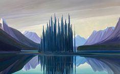 Ken Harrison - Spirit Island Twilight 30 x 48 Oil on canvas (2021)