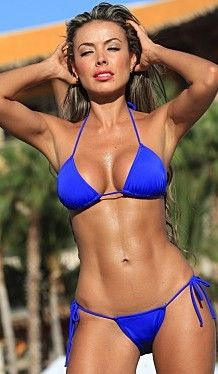 Itsy Bitsy String Bikini -  This skimpy little bikini has just the right amount of coverage to show off your body without showing too much! Basic triangle top and itsy bitsy bottoms are the perfect combination that tie everywhere for the perfect fit! Great for suntanning or walking the beach with that special someone! Available in4 great colors. #bikinis