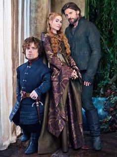 Tyrion Lannister, Cersei Lannister and Jaimie Lannister from Game of Thrones